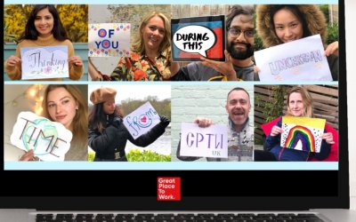 people team video call collage by gptw uk