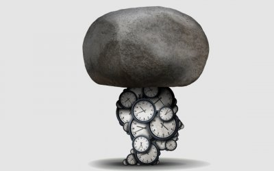 stress-time-face-clocks-stone-mental-wellbeing-blog